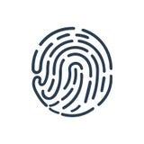 Icona dell'impronta digitale Immagine Stock