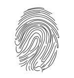 Icona dell'impronta digitale vettore semplice Fotografie Stock