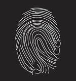 Icona dell'impronta digitale vettore semplice Fotografie Stock Libere da Diritti