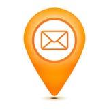 Icona dell'indicatore del email Fotografie Stock