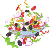 Icona dell'insalata Immagine Stock