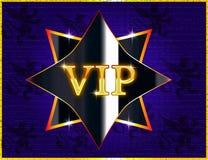 Icona dell'insegna di VIP per il sito Web o i biglietti da visita illustrazione di stock