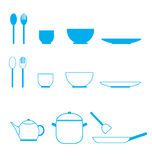 Icona dell'insieme della cucina Immagine Stock
