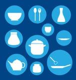Icona dell'insieme della cucina Immagine Stock Libera da Diritti