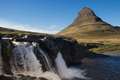Icona dell'Islanda: Kirkjufell Fotografia Stock