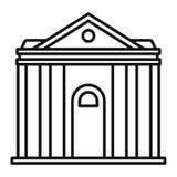 Icona dell'istituzione del tribunale, stile del profilo illustrazione vettoriale