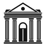 Icona dell'istituzione del tribunale, stile semplice illustrazione vettoriale