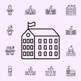 icona dell'istituzione della scuola Insieme universale delle icone della scuola per il web ed il cellulare royalty illustrazione gratis