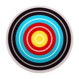 Icona dell'obiettivo, stile del fumetto illustrazione di stock