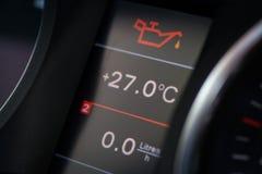 Icona dell'olio dell'automobile Fotografia Stock