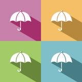 Icona dell'ombrello Fotografie Stock Libere da Diritti