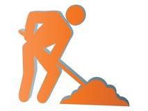 icona dell'operaio 3d illustrazione vettoriale
