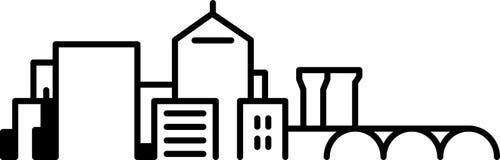 Icona dell'orizzonte della città di Arlington Immagini Stock