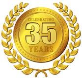 Icona dell'oro di celebrazione di anniversario illustrazione di stock