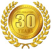 Icona dell'oro di celebrazione di anniversario Immagine Stock
