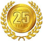 Icona dell'oro di celebrazione di anniversario Immagini Stock Libere da Diritti