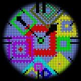 Icona dell'orologio Fotografia Stock