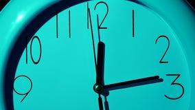 Icona dell'orologio bianco con ombra Movimento lento archivi video