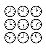 Icona dell'orologio della siluetta Royalty Illustrazione gratis