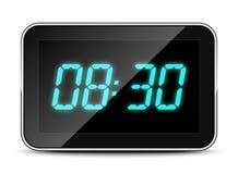 Icona dell'orologio di Digital, illustrazione di vettore Fotografie Stock Libere da Diritti