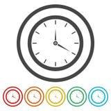 Icona dell'orologio, illustrazione di vettore illustrazione vettoriale