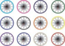 Icona dell'orologio marcatempo Immagini Stock