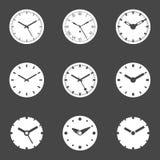 Icona dell'orologio messa - illustrazione di vettore Fotografie Stock