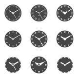 Icona dell'orologio messa - illustrazione isolata di vettore Fotografie Stock Libere da Diritti