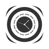 Icona dell'orologio semplice Fotografia Stock