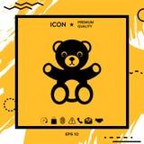 Icona dell'orsacchiotto Immagini Stock Libere da Diritti