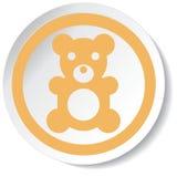 Icona dell'orso Fotografie Stock