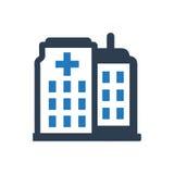 Icona dell'ospedale Immagine Stock