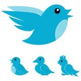 Icona dell'uccello Fotografia Stock