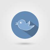 Icona dell'uccello con ombra Immagini Stock Libere da Diritti