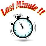 Icona dell'ultimo minuto del cronometro Fotografie Stock