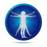 Icona dell'uomo di Vitruvian Immagine Stock Libera da Diritti