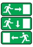 Icona dell'uscita di sicurezza illustrazione vettoriale