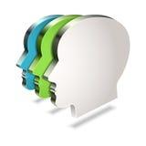 Icona dell'utente di web su fondo bianco Immagini Stock