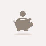 Icona della Banca Piggy Fotografia Stock Libera da Diritti