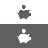 Icona della Banca Piggy Immagini Stock