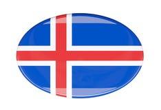 Icona della bandiera Fotografie Stock