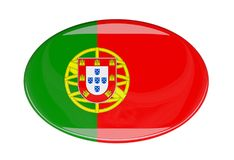 Icona della bandiera Immagine Stock