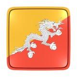 Icona della bandiera del Bhutan Fotografia Stock