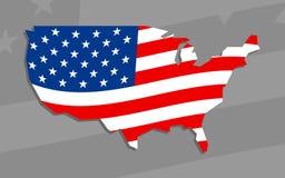 Icona della bandiera di paese dell'America Fotografia Stock
