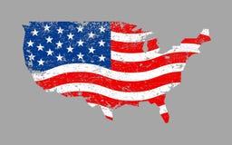 Icona della bandiera di paese dell'America Immagine Stock