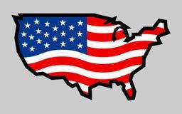 Icona della bandiera di paese dell'America Fotografie Stock Libere da Diritti