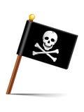 Icona della bandiera di pirata Immagini Stock