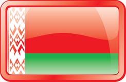Icona della bandierina del Belarus Fotografia Stock