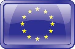 Icona della bandierina dell'Europa. Fotografie Stock