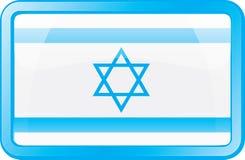Icona della bandierina dell'Israele Fotografia Stock Libera da Diritti